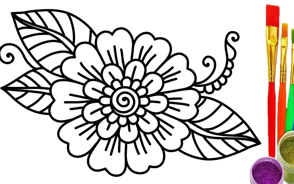 1150x720 Maxresdefault Flower Coloring Book Pages Free Magic Garden