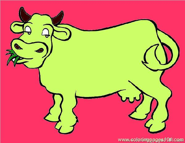 600x463 Cow Big 4 Coloring Page