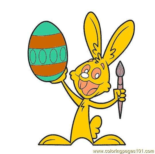 540x536 Easterbunny9 Coloring Page