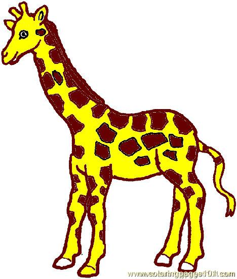 468x550 Giraffe Coloring Page 03 Coloring Page