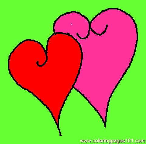 481x473 Hearts 1 Coloring Page