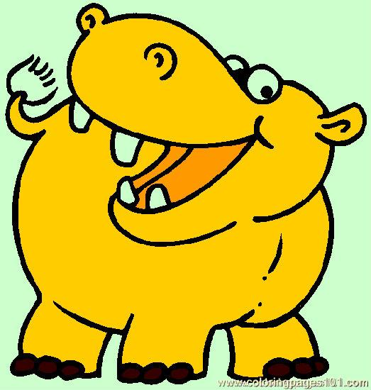 523x550 Hippo Coloring Page 05 Coloring Page