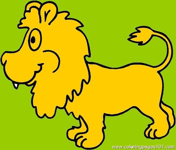 597x511 Lion Tiger Coloring Page 10 Coloring Page