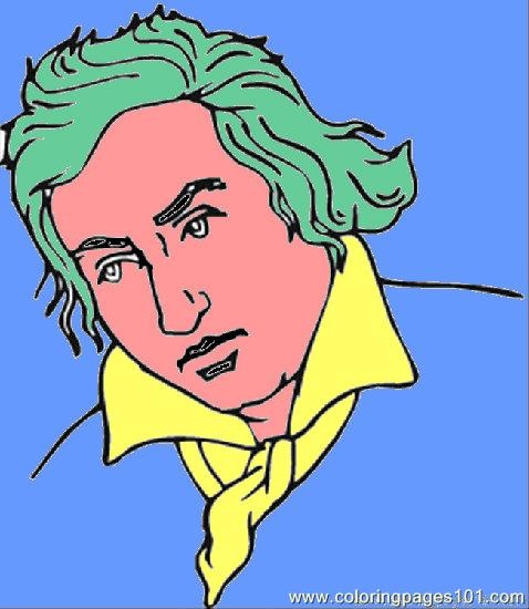 478x550 Ludwig Van Beethoven Coloring Page