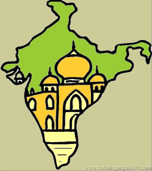 489x550 Map Of India Coloring Page