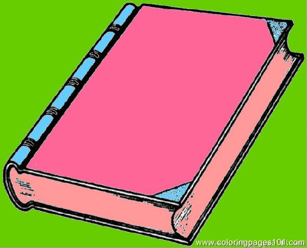 600x486 New Interesting Book Coloring Page