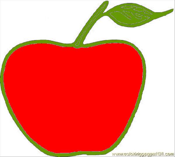 600x538 Apple Coloring Page