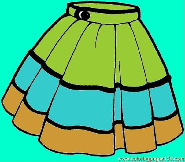 600x526 Skirt Coloring Page