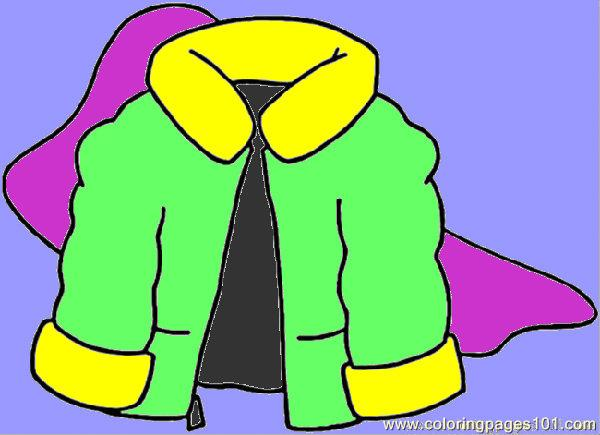 600x435 Winter Coat Coloring Page