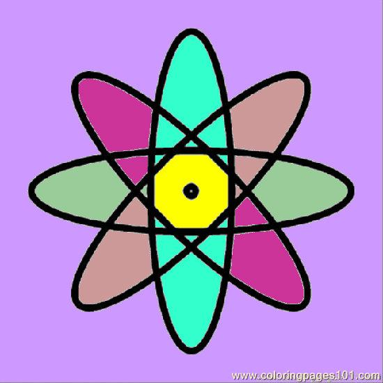 550x550 Atom Coloring Page