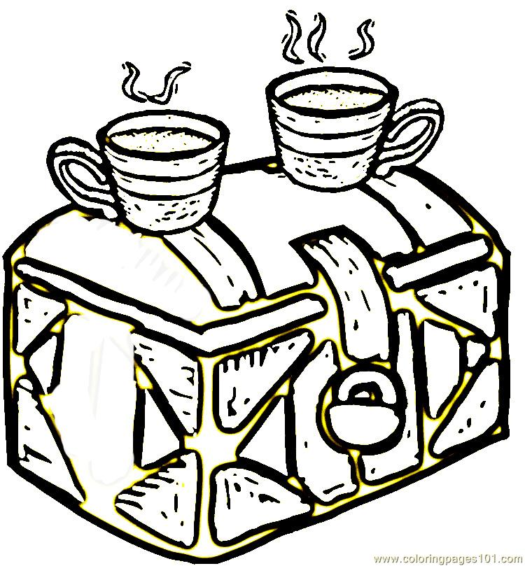 750x809 Coffee From Brazil Coloring Page