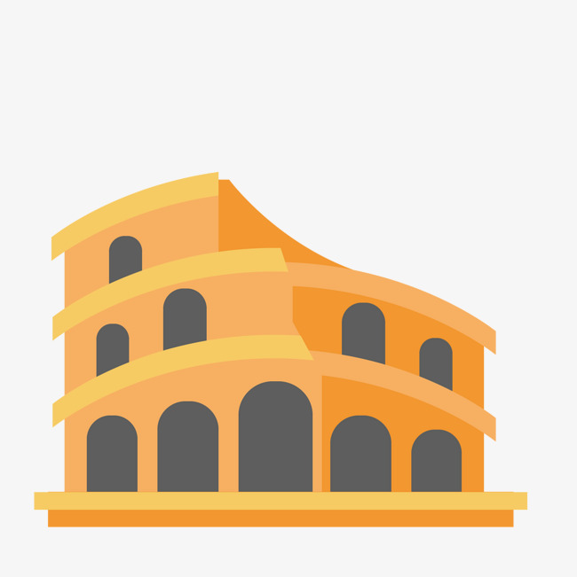 650x651 Yellow Colosseum, Yellow, Architecture, Classical Vector Diagram