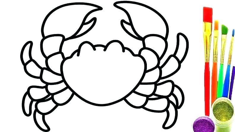 792x446 Crab Coloring Sheet Crab Coloring Page Inspirational Crab Coloring