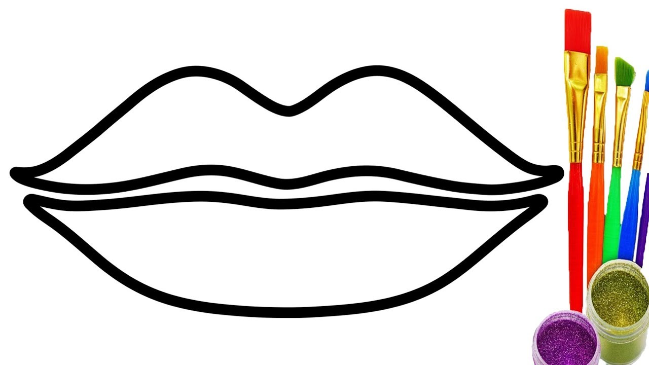 1280x720 How To Draw Lip Coloring Pages For Kids Learn Colors Videos Baby
