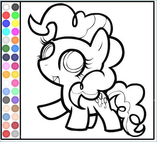 510x461 My Little Pony Coloring Pages Pinkie Pie