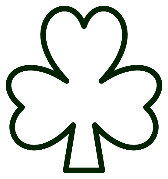 555x592 Saint Pattys Day Shamrock Black White Line Flower Art Coloring