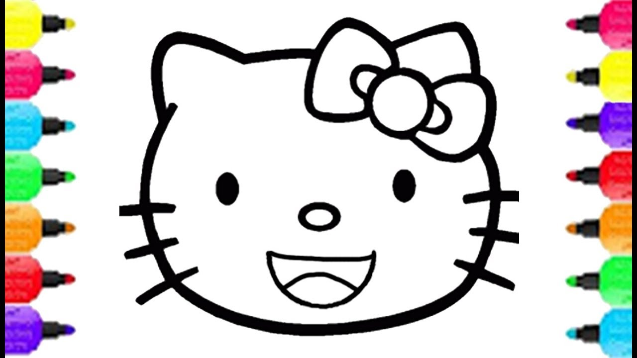 1280x720 Smiley Face Coloring Page