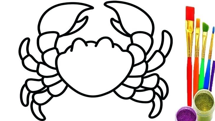728x410 Crab Coloring Pages Crab Coloring Pages Cartoon Undersea Page