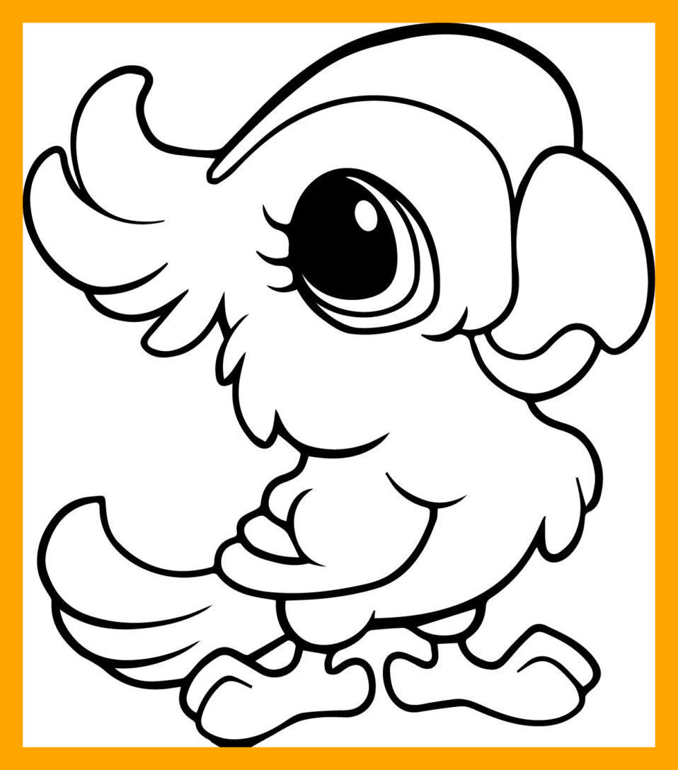 958x1088 Fascinating Unique Cute Animals Coloring Pages Pict For Big Eyed