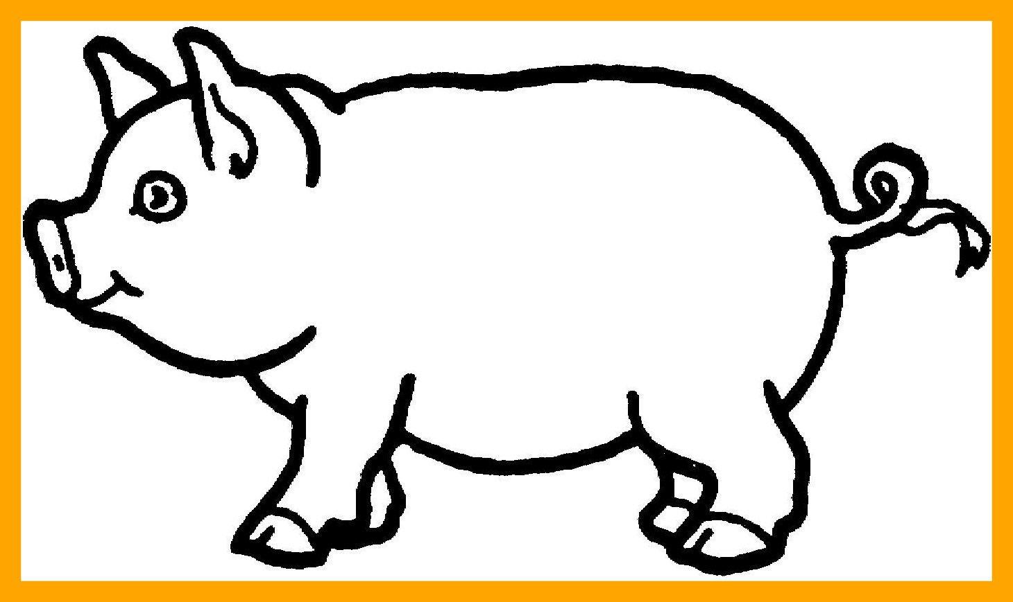 1460x869 Shocking Printable Pig Coloring Pages For Kids Animals Cute Stock