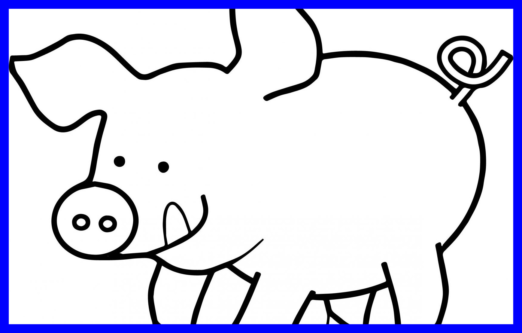 1738x1108 Astonishing Happy Pig Coloring Page Printable Animals Cute
