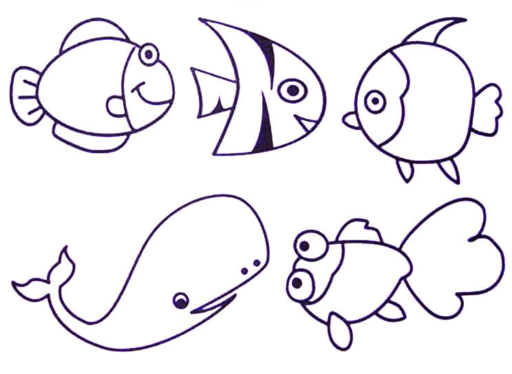 744x544 Best Photos Of Color Sea Animal Templates Printable