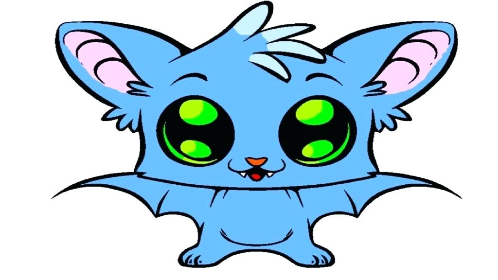 1024x576 Coloring Pages Animals For Adults Little Cute Baby Bat Page B