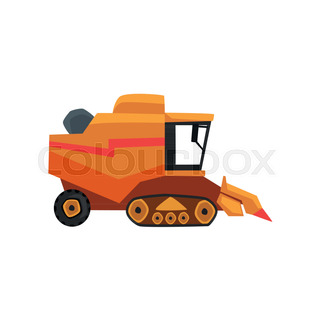 320x320 Combine Harvester,gricultural Machinery Vector Illustration On