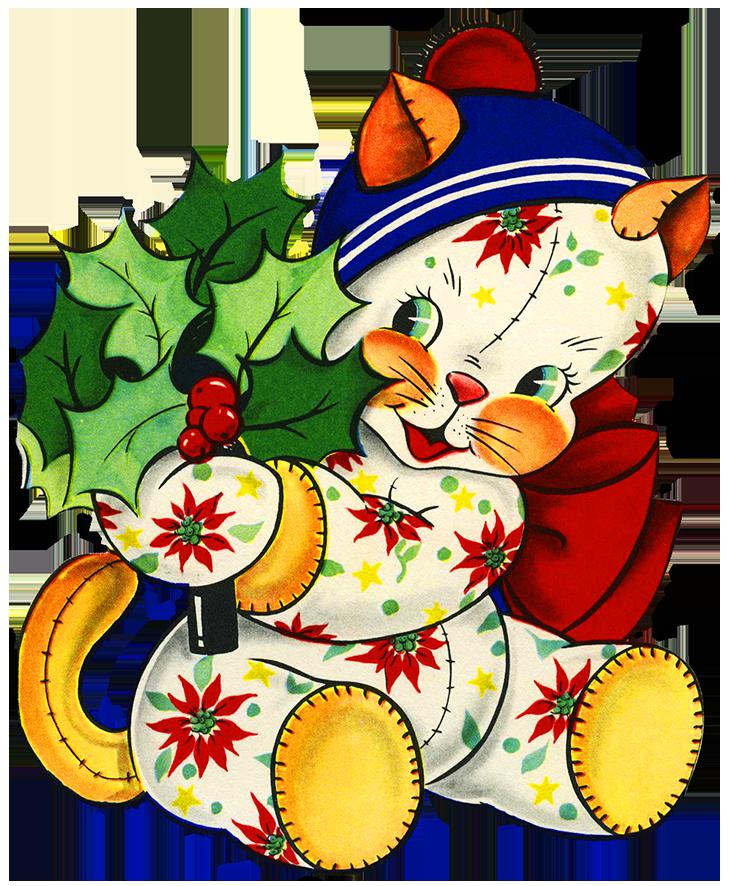 732x886 Charming Vintage Christmas Clip Art