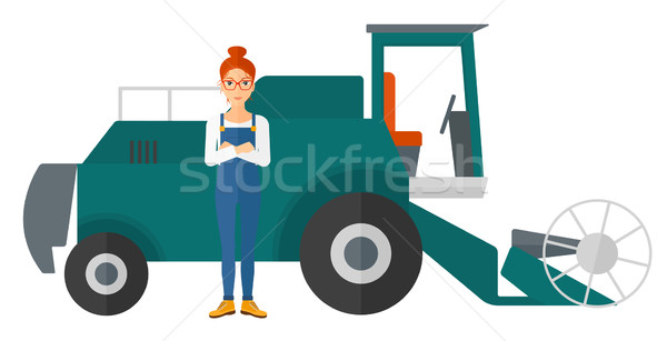 600x307 Combine Harvester Stock Vectors, Illustrations And Cliparts