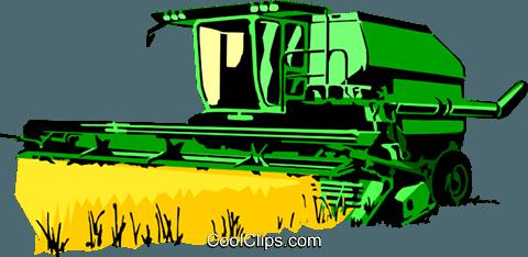 480x234 Farm Combine Royalty Free Vector Clip Art Illustration Indu0414