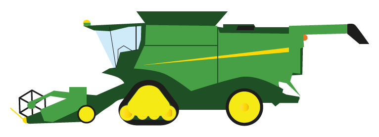 766x277 Collection Of John Deere Combine Clipart High Quality, Free