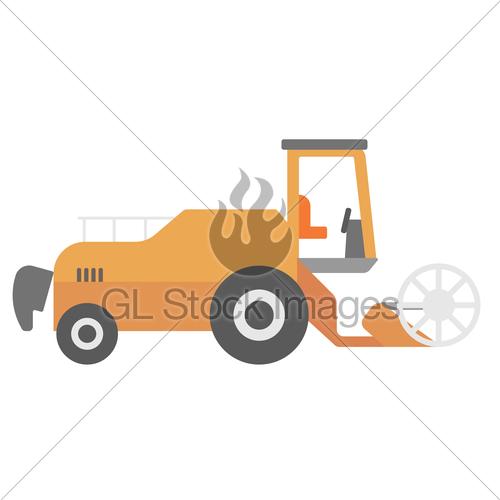 500x500 Modern Combine Harvester Gl Stock Images