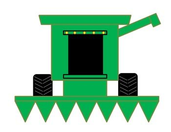 350x271 Parts Of A Farm Combine Harvester Cut And Paste Craft Activity