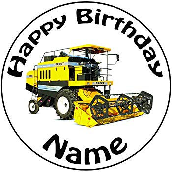 350x350 Personalised Combine Harvester Cake Topper