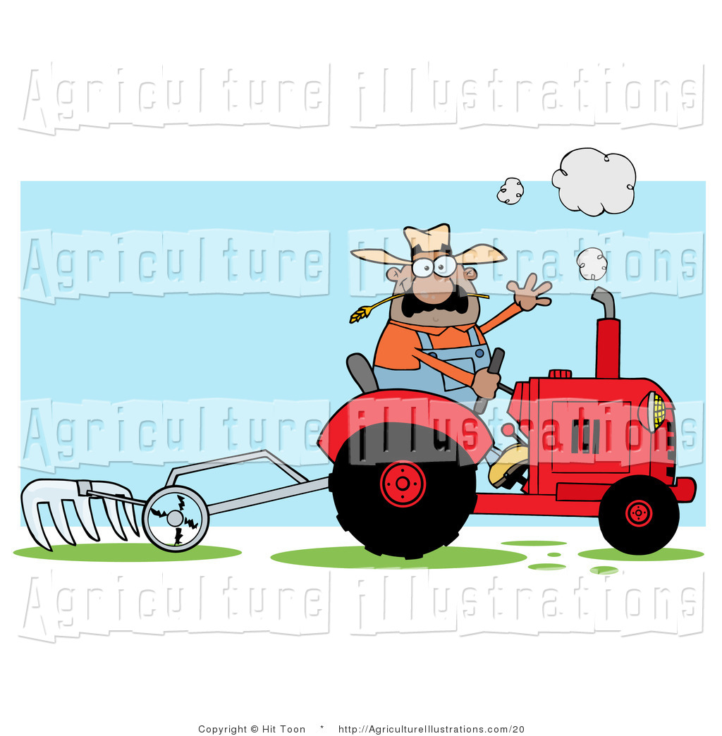 1024x1044 Tractor In Field Clipart