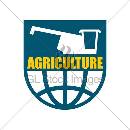 500x500 Agriculture Logo. Harvest Emblem. Combine Harvester And E Gl
