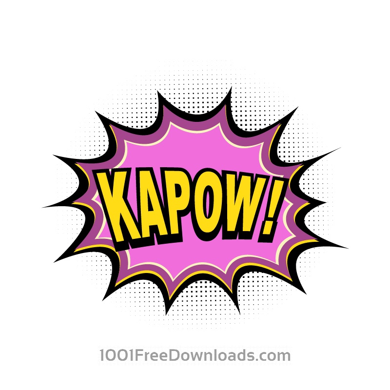 800x800 Free Vectors Comic Book Explosion, Kapow Abstract