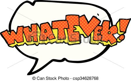 450x280 Freehand Drawn Comic Book Speech Bubble Cartoon Whatever! Clip