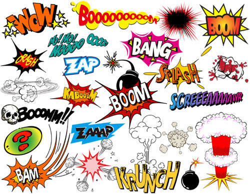 500x387 Instant Download Superhero Clip Art Digital Comic Book Clip Art