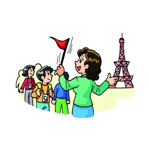 500x500 Tour Guide Museum Clip Art