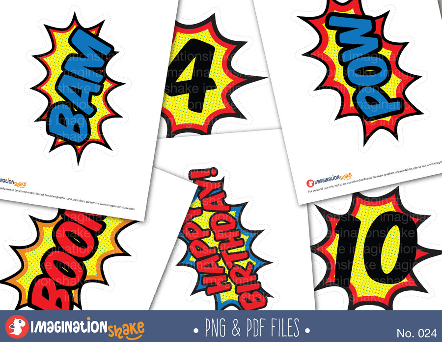 900x695 Comic Book Party Clip Art Amp Printables Set Comic Bubbles Clipart