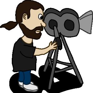 300x300 Comic Characters Filmmaker Clip Art