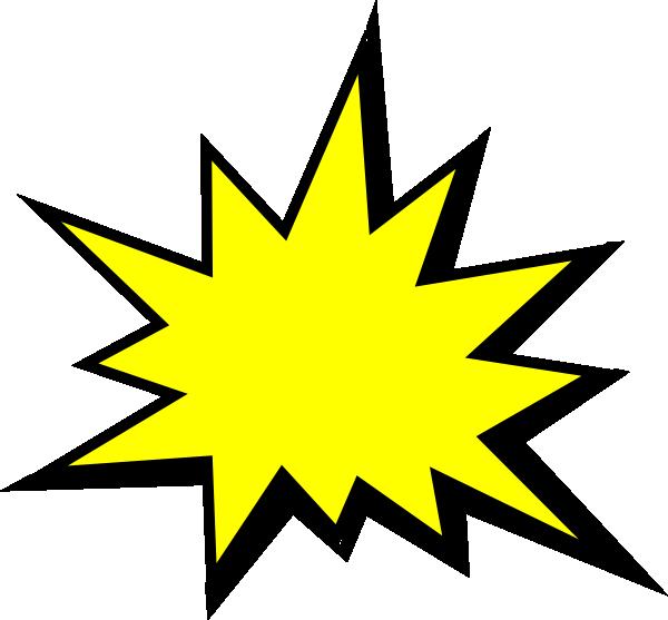 600x557 Yellow Comic Pow Clip Art