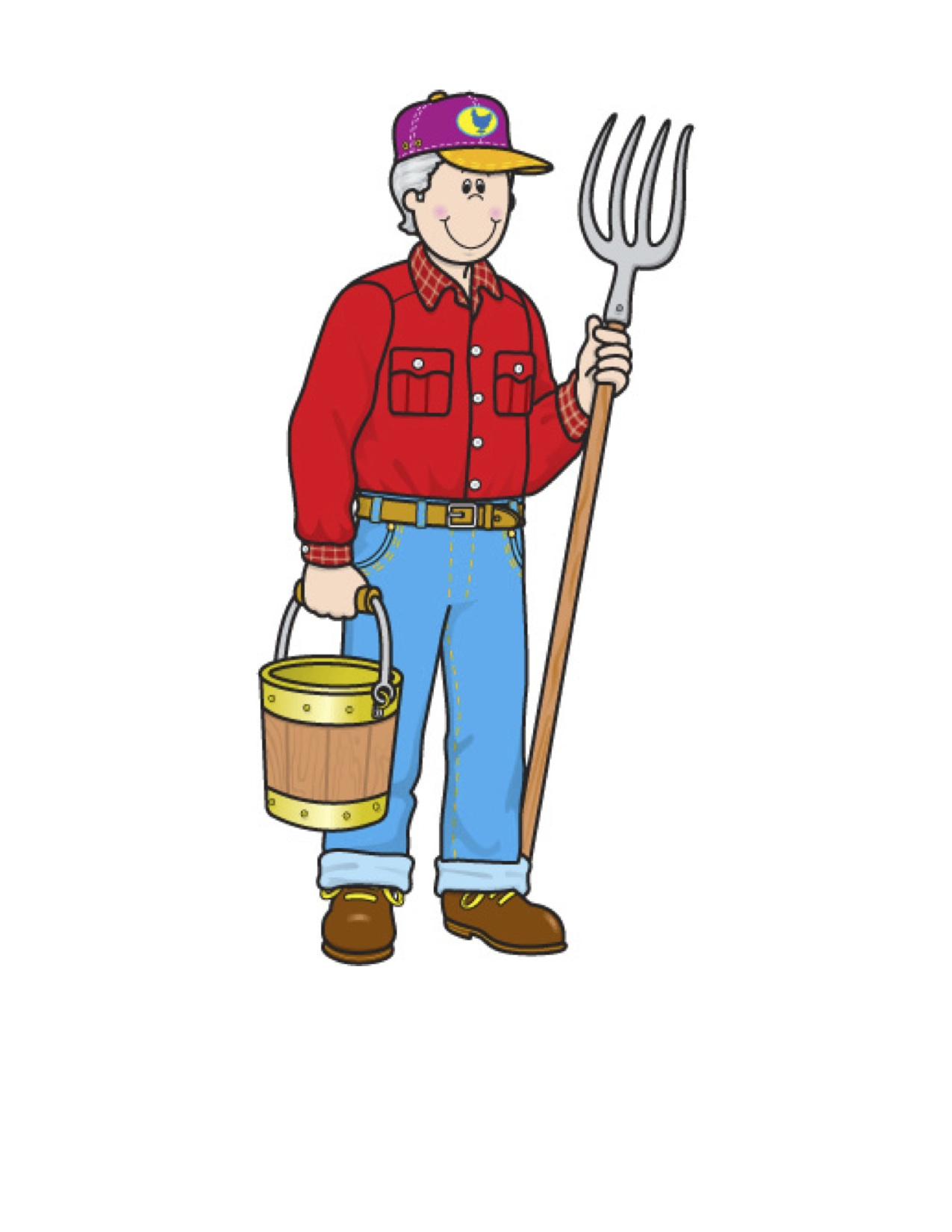1275x1650 Collection Of Community Helpers Clipart Farmer High Quality
