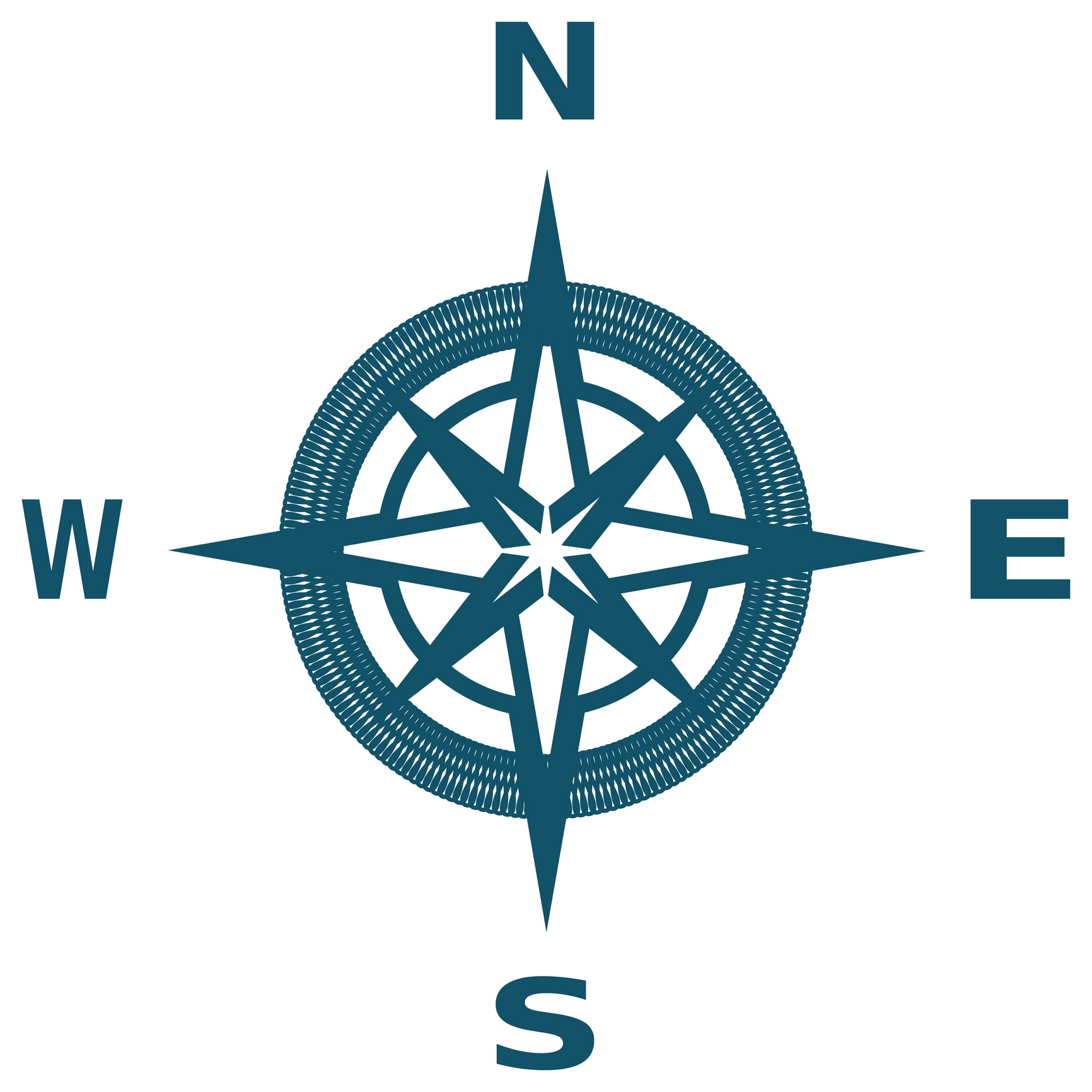 1732x1732 Compass Rose Map Clipart