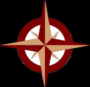 299x288 Red Compass Rose Clip Art