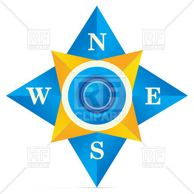 400x400 Blue Compass Royalty Free Vector Clip Art Image