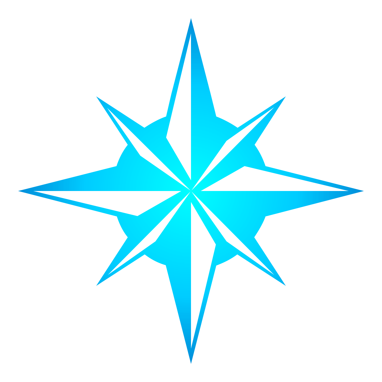 1294x1294 Clipart Compass Star