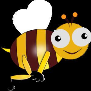 300x300 Bumble Bee Smiling Clip Art